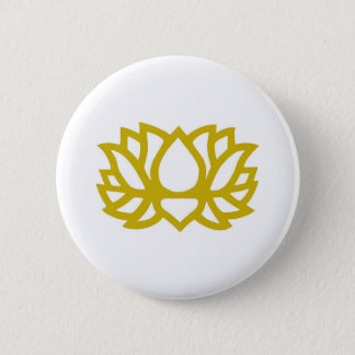 Lotus flower 6 cm round badge
