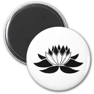 Lotus Flower 6 Cm Round Magnet