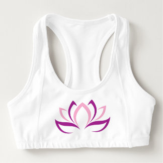Lotus Flower Abstract Sports Bra