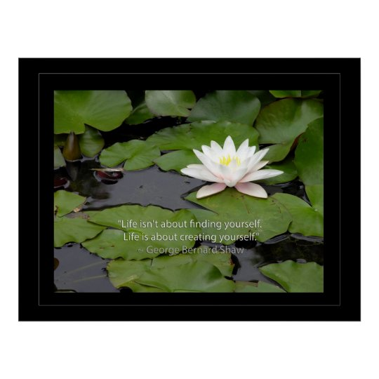 Lotus flower and Bernard Shaw Quote about life
