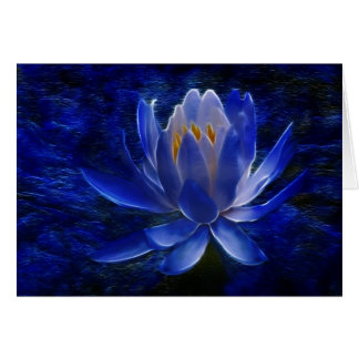 Lotus flower and its meaning greeting card