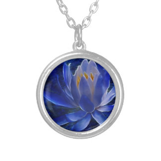 Lotus flower and its meaning silver plated necklace