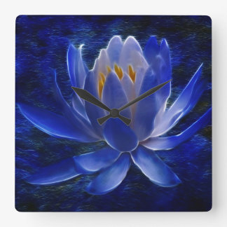Lotus flower and its meaning square wall clock