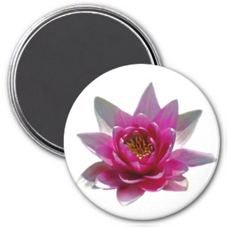 Lotus flower and meaning 7.5 cm round magnet