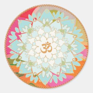 Lotus Flower and Om Symbol Mandala Sticker