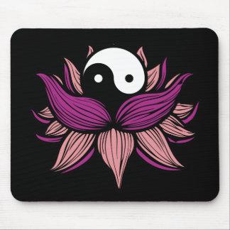 Lotus Flower and Yin Yang Mouse Mat