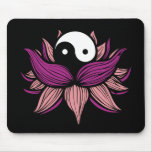 Lotus Flower and Yin Yang Mouse Pad