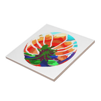 LOTUS Flower - Artistic Abstract Tile