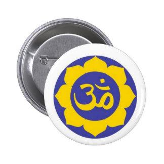 lotus flower - aum meditation pinback button
