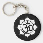 Lotus Flower Aum Symbol