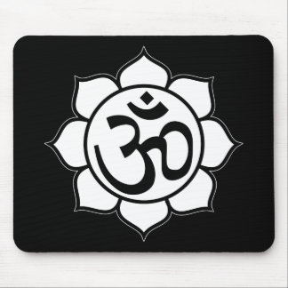 Lotus Flower Aum Symbol Mouse Pad