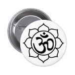 Lotus Flower Aum Symbol Pinback Buttons