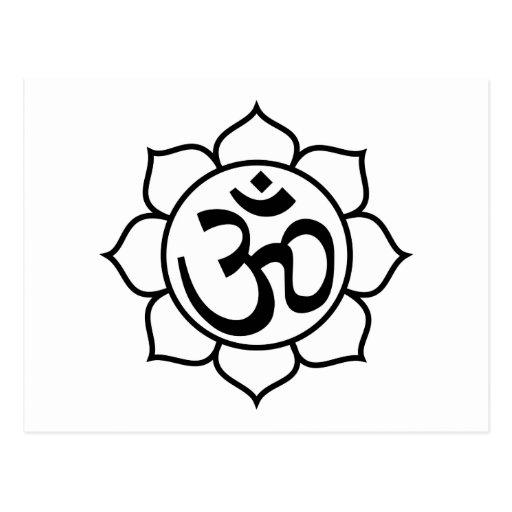 Lotus Flower Aum Symbol Postcards