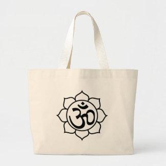 Lotus Flower Aum Symbol Tote Bag