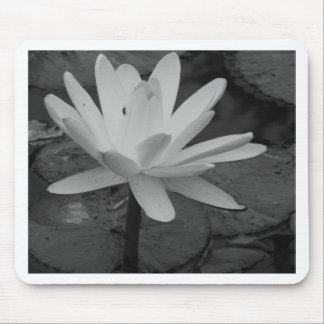 Lotus Flower B/W Mousepad