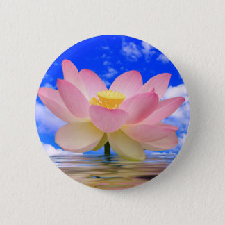 Lotus Flower Born in Water 6 Cm Round Badge