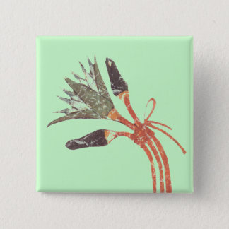 Lotus Flower & Buds 15 Cm Square Badge