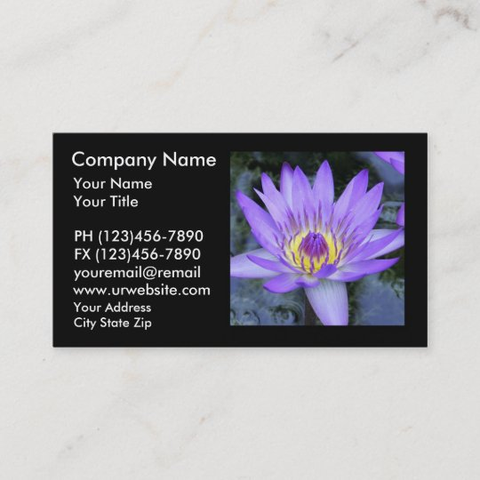 Classy lotus business cards business card printing zazzle uk lotus flower business cards colourmoves