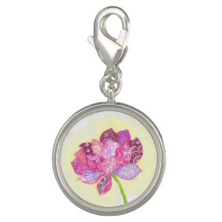 Lotus Flower Charm Bracelet