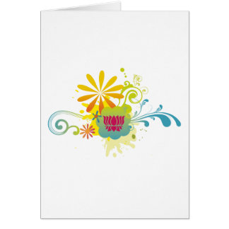 Lotus Flower Color Burst Card