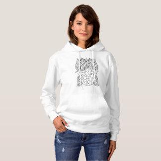 Lotus Flower Coloring DIY Doodle Hoodie Sweatshirt