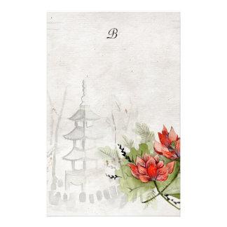 Lotus Flower Custom Stationery