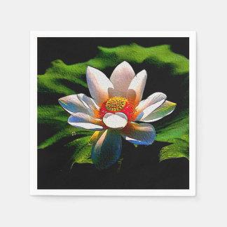 Lotus Flower design luxury set of  paper napkins