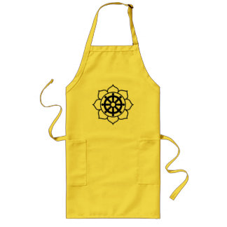 Lotus Flower Dharma Wheel Long Apron