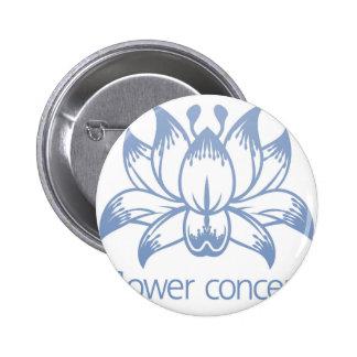 Lotus Flower Floral Design Concept Icon 6 Cm Round Badge