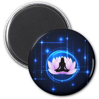 Lotus Flower Galaxy Magnet
