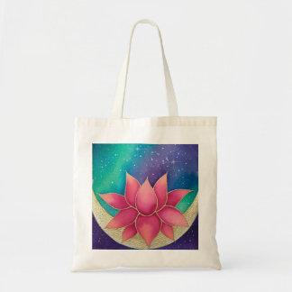 Lotus Flower Galaxy Tote Bag Purse