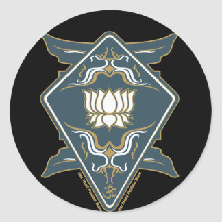 Lotus Flower Logo Round Sticker