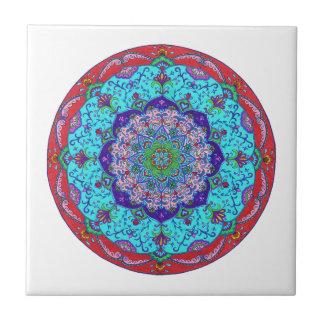 Lotus Flower Mandala Ceramic Tile, Art Tile