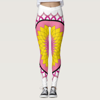 Lotus Flower Mandala Leggings