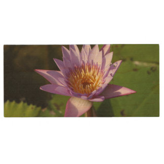 Lotus Flower Wood USB 2.0 Flash Drive
