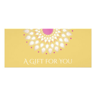 Lotus Flower Massage Therapy Gift Certificate Full Colour Rack Card