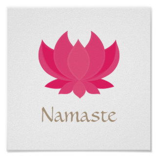 Lotus Flower Meditation Poster