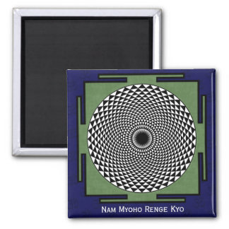 Lotus flower meditation wheel magnet