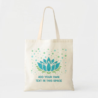 Lotus Flower Meditation Yoga Zen | Text Template Tote Bag