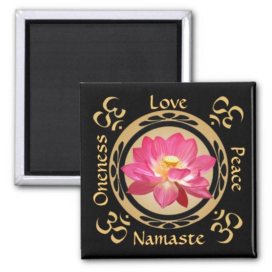 Lotus Flower Namaste OM Magnet