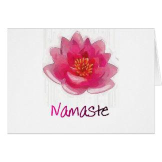 """Lotus Flower """"Namaste"""" Yoga Gifts Card"""