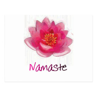 "Lotus Flower ""Namaste"" Yoga Gifts Postcard"
