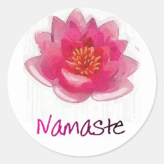 """Lotus Flower """"Namaste"""" Yoga Gifts Stickers"""