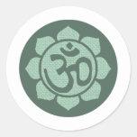 lotus flower ohm round sticker