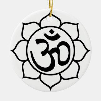 Lotus Flower Om Symbol Christmas Ornament