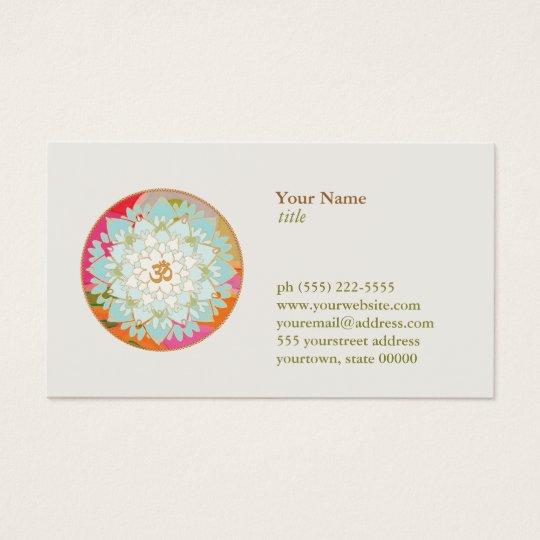 Lotus Flower OM Symbol Yoga Meditation Teacher Business