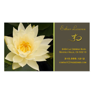 Lotus flower, Om yoga, healers Business Card Templates