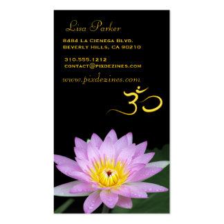 Lotus flower, Om yoga, healers Business Cards