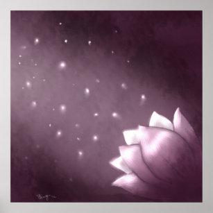 Purple lotus flower posters prints zazzle uk lotus flower on purple background poster mightylinksfo