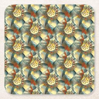 Lotus Flower Paper Coaster